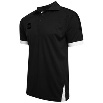 Picture of Blade / Dual Polo Shirt : Black / Black / White