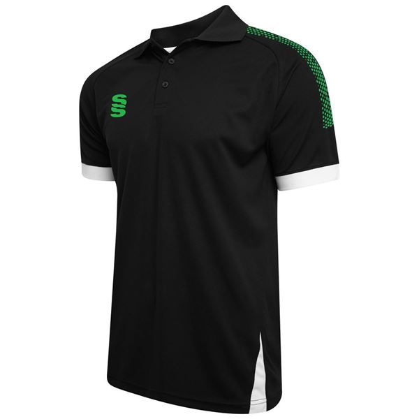 Picture of Blade / Dual Polo Shirt : Black / Emerald / White