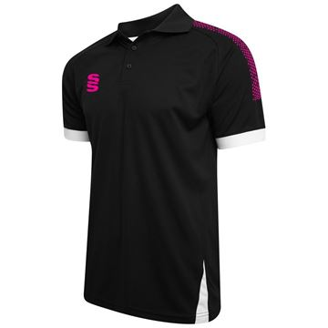 Picture of Blade / Dual Polo Shirt : Black / Pink / White