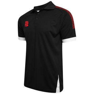 Picture of Blade / Dual Polo Shirt : Black / Red / White