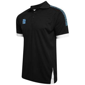 Picture of Blade / Dual Polo Shirt : Black / Sky / White