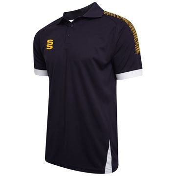 Picture of Blade / Dual Polo Shirt : Navy / Amber / White