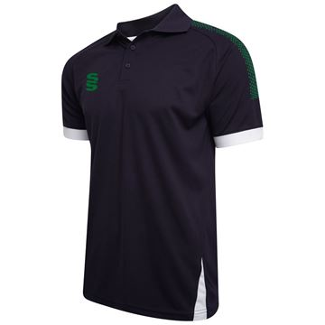Picture of Blade / Dual Polo Shirt : Navy / Bottle / White