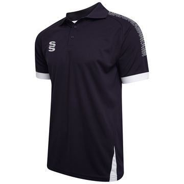 Picture of Blade / Dual Polo Shirt : Navy / Silver / White