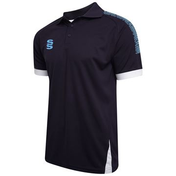Picture of Blade / Dual Polo Shirt : Navy / Sky / White