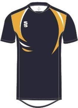 Picture of Dual Games Shirt - Navy/Amber/White