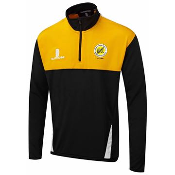 Afbeeldingen van Munich Cricket Club Blade Performance Top Black/Amber/White