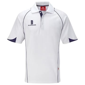 Picture of Curve Polo Shirt - White/Navy
