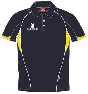 Bild von Curve Polo Shirt - Navy/Yellow