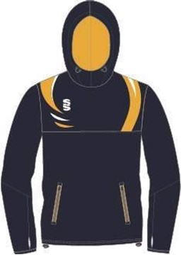 Picture of DUAL OVERHEAD HOODY - NAVY/AMBER/WHITE Mens & Ladies Fit