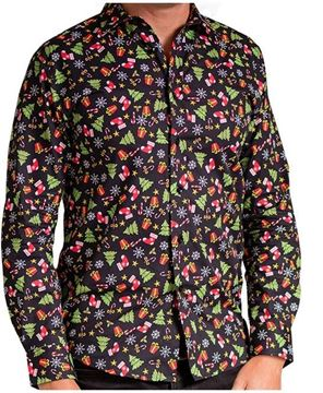 Bild von Black Assorted - Printed Christmas Shirt