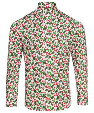 Bild von Holly White Printed Christmas Shirt