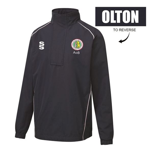 Afbeelding van Olton & West Warwickshire Hockey Club 1/4 Zip Rain Jacket Navy