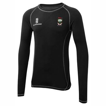 Picture of Earl Shilton Town Cricket Club Premier Long Sleeve Sug - Black
