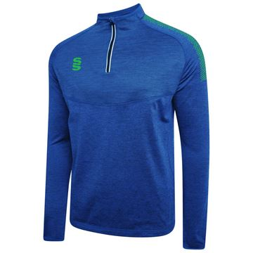 Picture of DUAL 1/4 ZIP MIDLAYER ROYAL/EMERALD