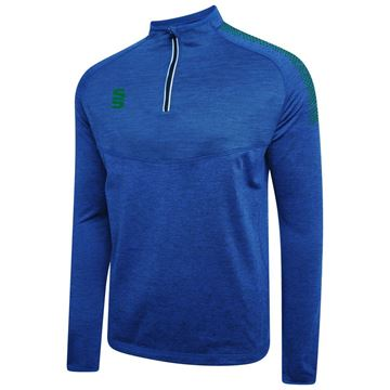 Picture of DUAL 1/4 ZIP MIDLAYER ROYAL/BOTTLE