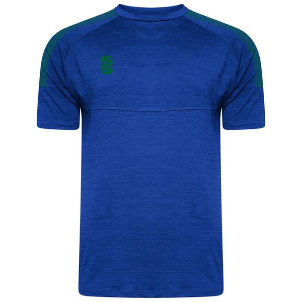 Picture of DUAL T-SHIRT ROYAL/BOTTLE