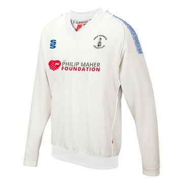 Picture of Great Harwood CC Long Sleeve Sweater Ivory/Royal